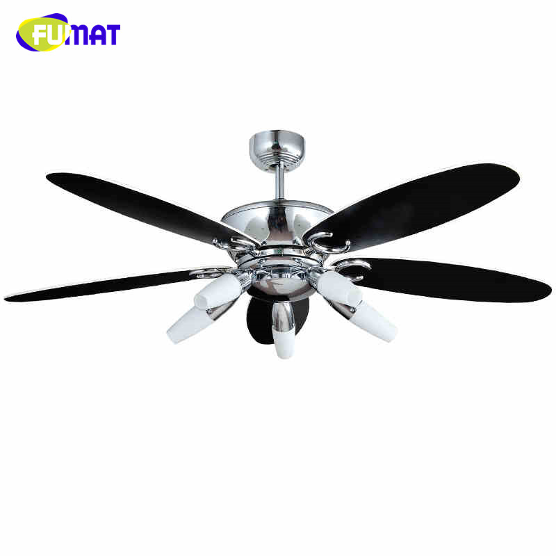 FUMAT Ceiling Fans Lamp Indoor Modern Remote Control Wood Ceiling Fans Lights Living Room Bed Room Wood leaf Ceiling Fan Lamps