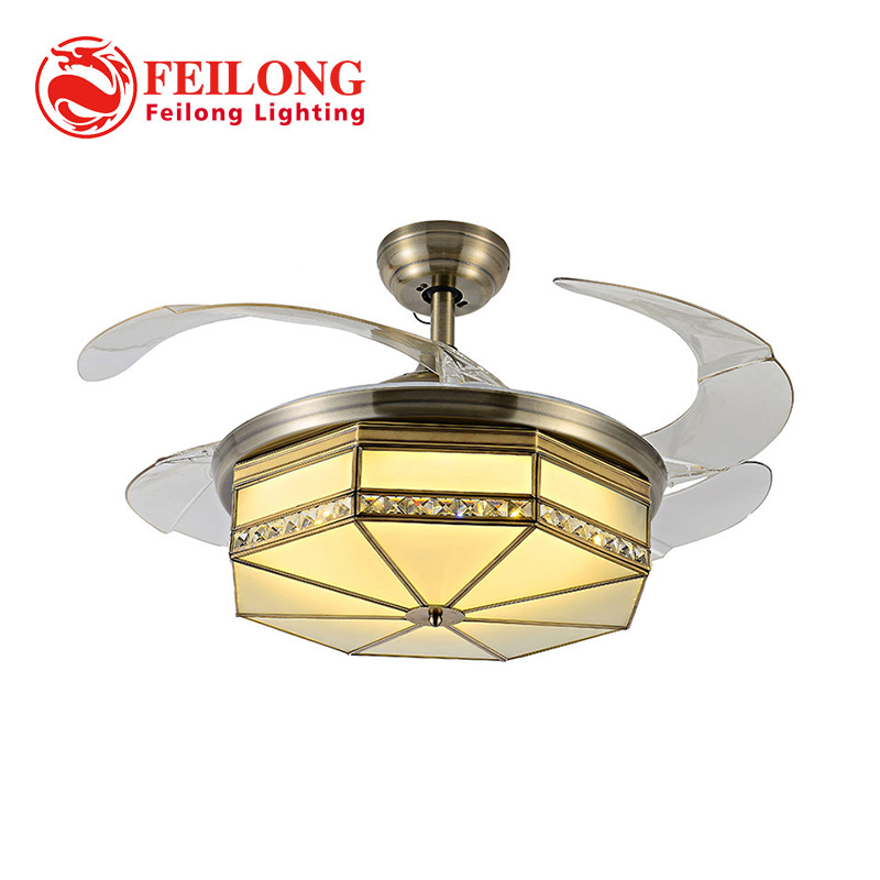 Vintage Ceiling Fan Y4219 42 inch Living Room Fan Light Ceiling Fan with Light Bed Room Light