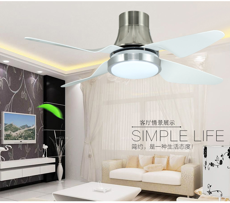 Inverter ceiling fan lights restaurant simple LED remote control fan lights ceiling light living room fan lamp ceiling 48 inch