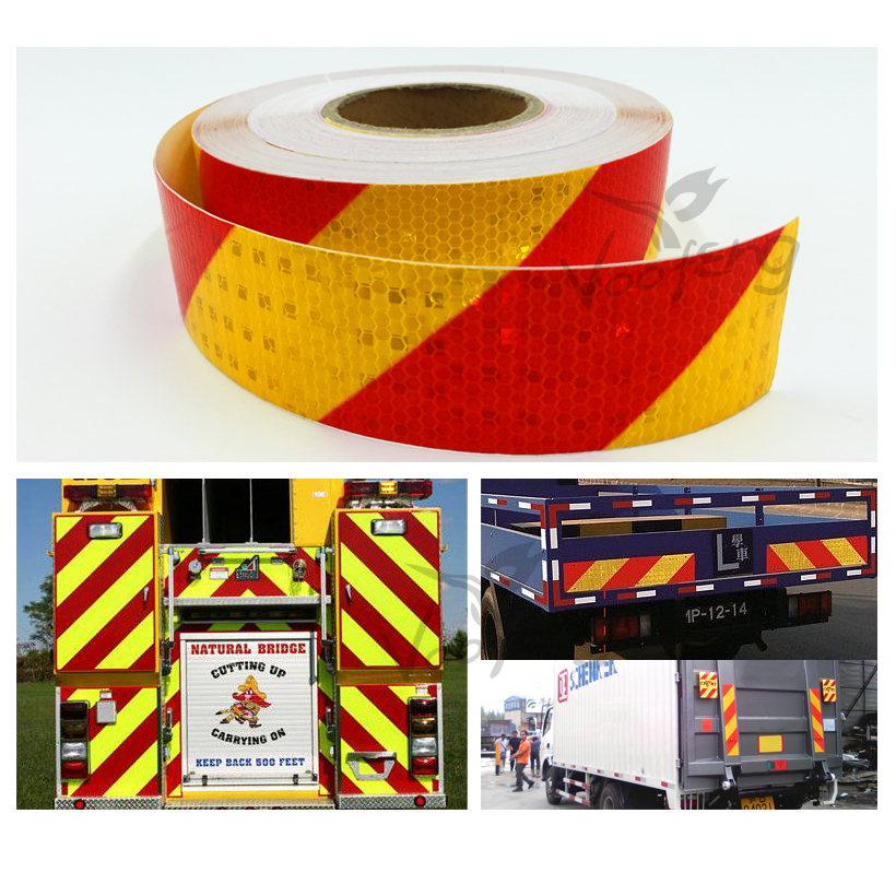 5cmx50m  Reflective Vehicle Sticker for Car-Styling Safety Warning Conspicuity Reflective Tape