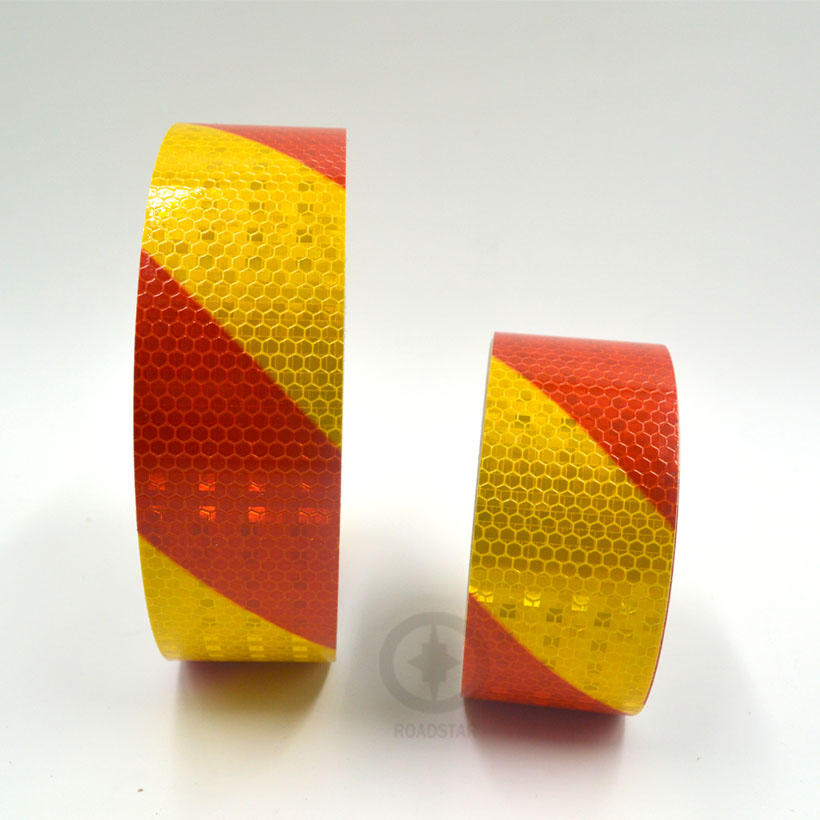 5cmx3m Dual Color Safety Self Adhesive Warning Tape with Twill Printing