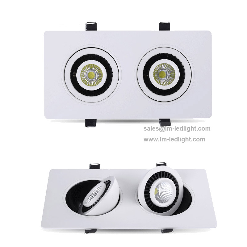 rotation luces led 18W 110-240V LED Lamp 20pcs/lot LED Bean Light warm/day/cold white 3000K 4000K 6000K led downlight