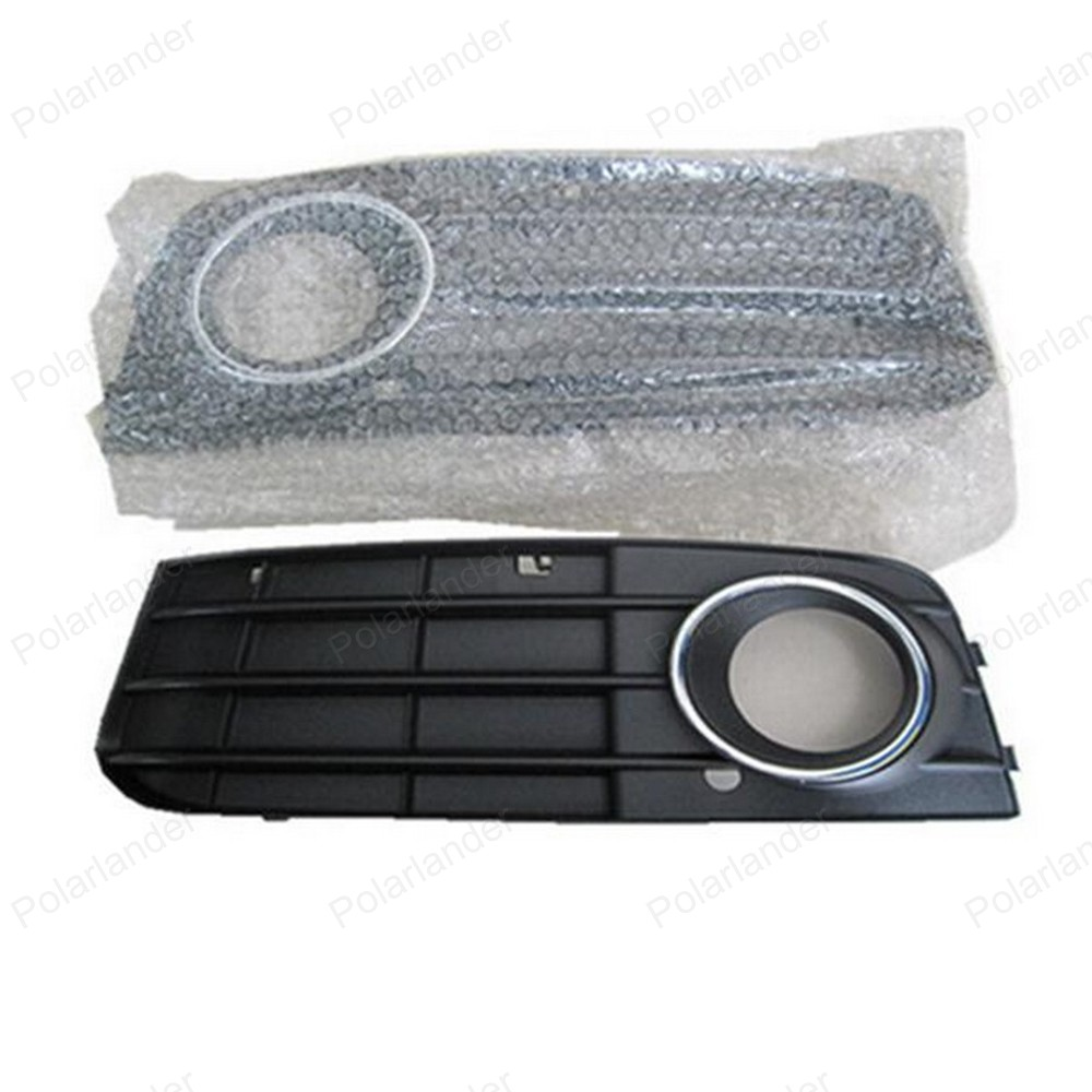 For A/udi A4 B8 2008 -2012 One Pair Black Right & Left Fog Light Lamp Grille Auto Grills 8K0807681A 01C 8K0807682A 01C