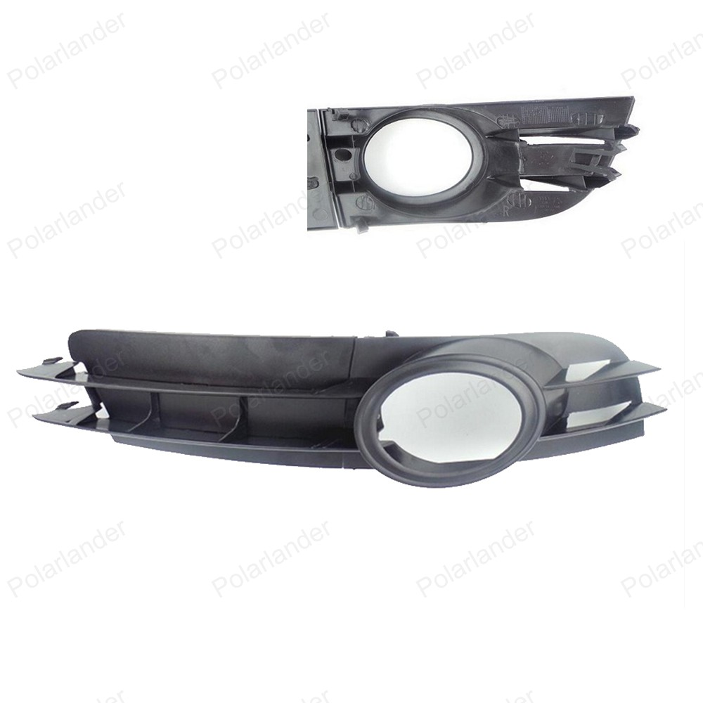 Auto Accessories 2pcs Black Front car Fog Light Grill for A/udi A6 2005 2006 2007 2008 Lamp Grille 4F0807681A 4F0807682A