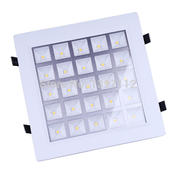 85-265V 25W LED Grille Light Square style White or Warm white celling light