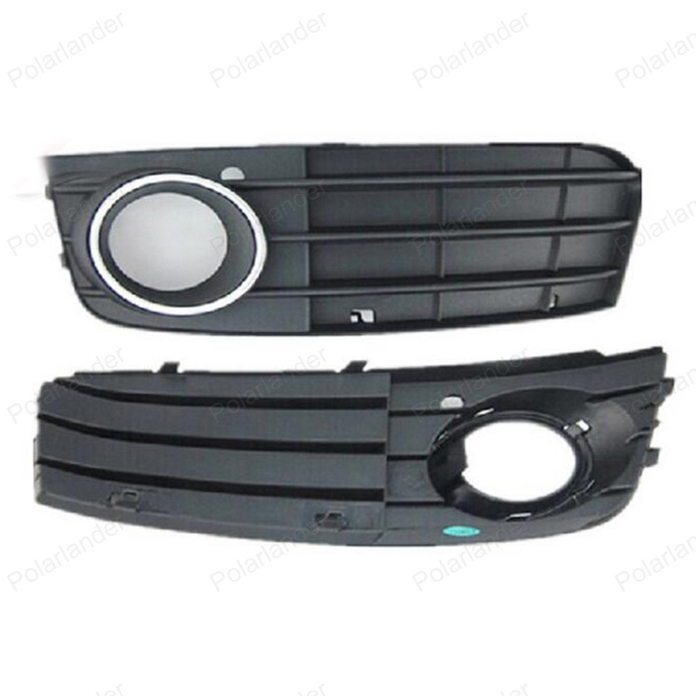 For Audi A4 B8 2008 -2012 8K0807681A 01C 8K0807682A 01C One Pair Black Right & Left Fog Light Lamp Grille Auto Grills