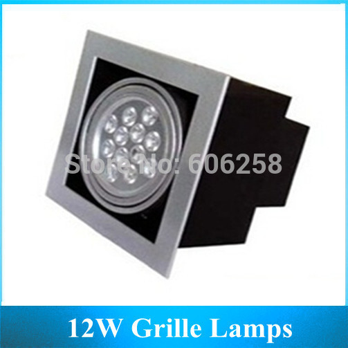 12*1W High Power LED Lights AR111 12W Grille Lamps Living Room Lighting 6pcs