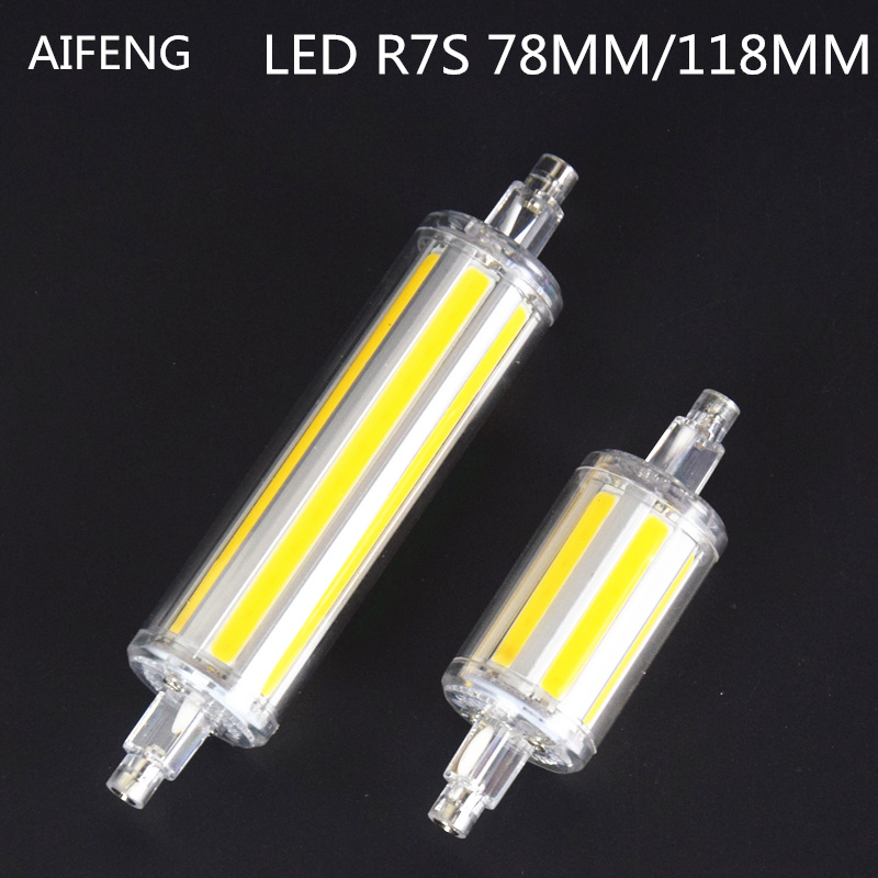 AIFENG r7s led 118mm 78mm dimmable Instead of halogen lamp cob 220V 110V 230v  Energy saving powerful R7S led bulb 7W 14W