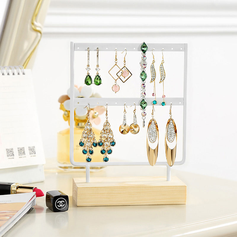N&Z New Jewelry Display Holder Stand Bracket For Earring Necklace Multifunctional Iron Frame Series Earrings Display Stand