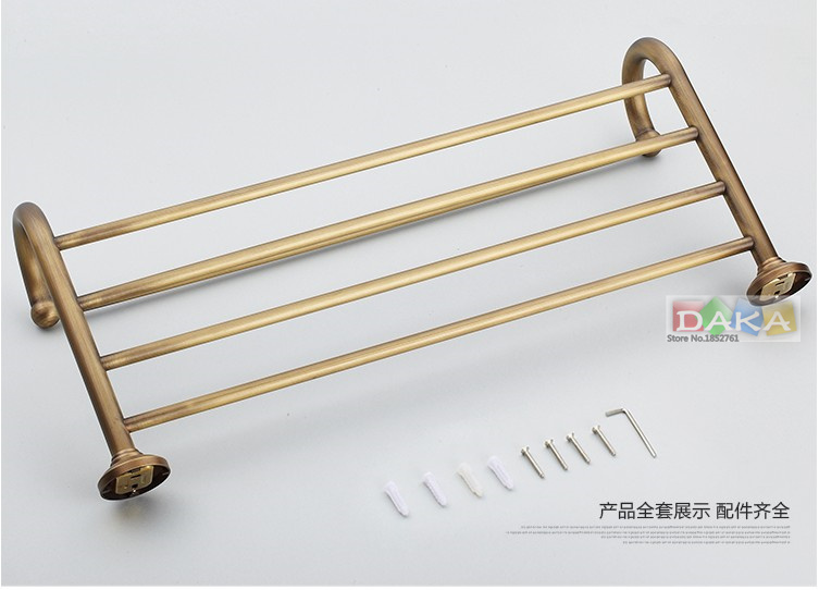 2016 New arrival Fashion Antique Brass Towel Rack , Bathroom Luxury Accessories Towel Bars Shelf ,Bronze Towel Holder/toalheiros
