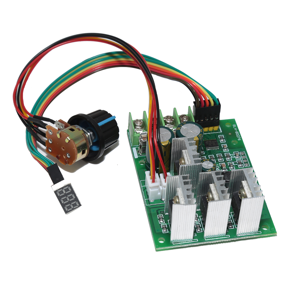 DC 6V-60V 30A Variable Speed Motor Controller Driver Control With Digital Display Circuit Board Speed Regulator