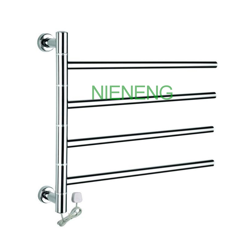 Low Freight Rotatable Stainless Steel Electric Wall Mounted heated Towel Rail and Towel Racks Towel Warmer, 50W