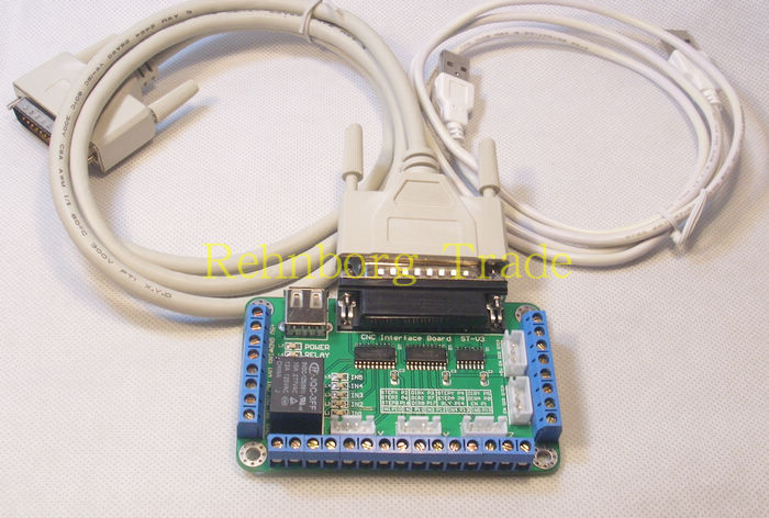 CNC 4 Axis Controller kit,TB6560 3.5A mach3 Stepper Motor Driver for nema17, nema23 stepper motor