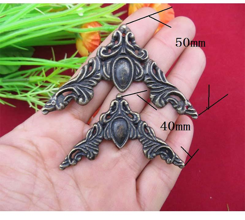 40MM  Large corner piece alloy  Antique decorative fillet  Wooden boxes sides angle corners   wrap angle Wholesale