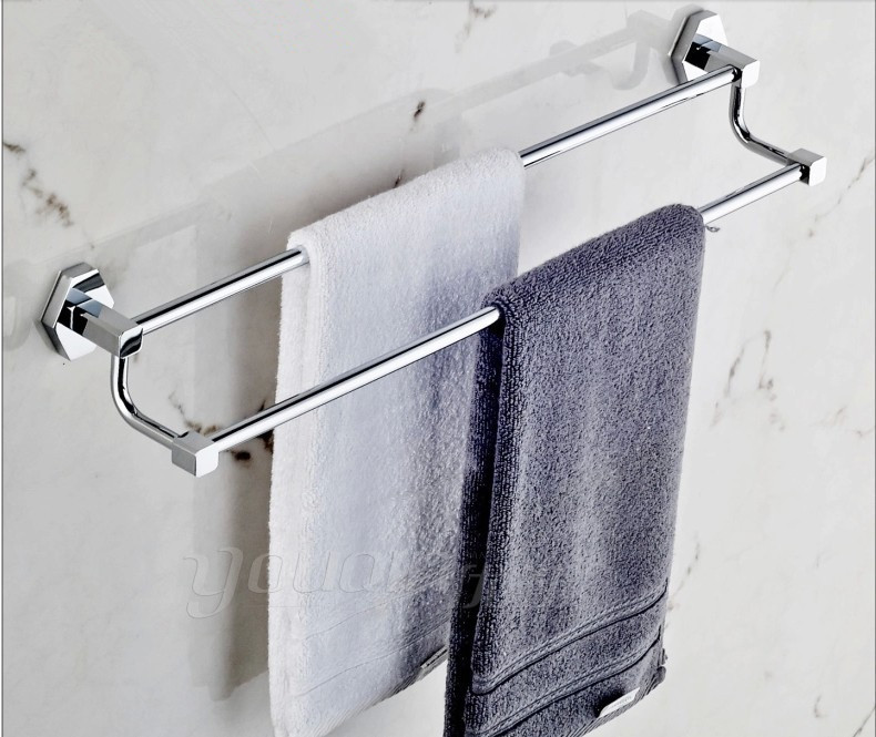 50CcopperTowel Rack Double Bar Towel Rack Thickening Bathroom Accessories