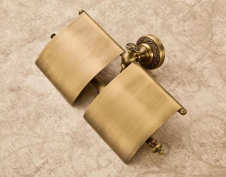 Wall Mounted Antique Copper Double Roller Paper Holder  Bathroom Accessories