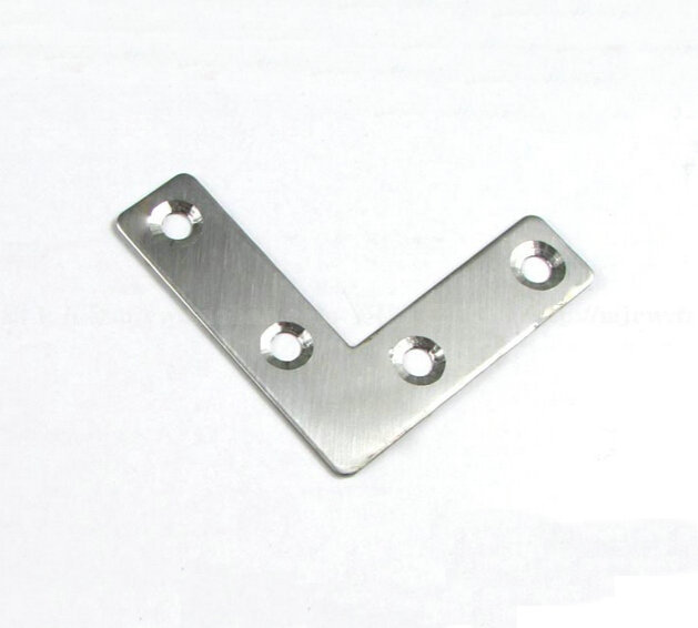 20 Pieces 50x50x15mm Stainless Steel Right Angle Plate Corner Bracket Thinckness 1.5mm