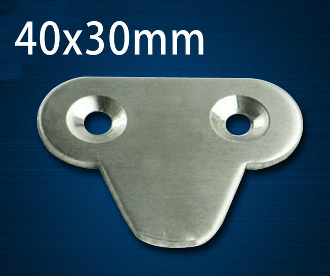 20 Pieces 40x30mm Stainless Steel Angle Plate Corner Bracket Thinckness 2mm