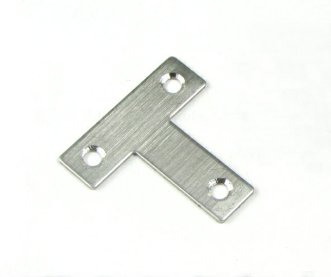 20 Pieces 40x40x12mm Stainless Steel T Shape Angle Plate Corner Bracket Thinckness 1.5mm