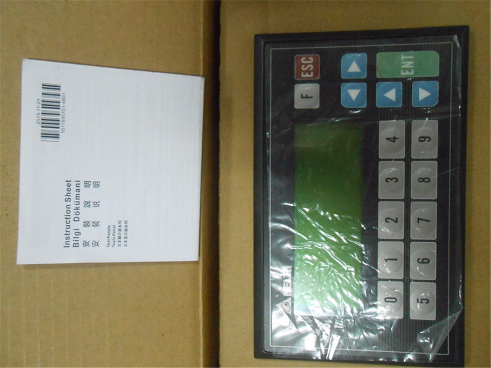 "TP04P-21EX1R Delta Text Panel 4.1"" 192*64 STN-LCD Monochromatic with Free Cable&Software"