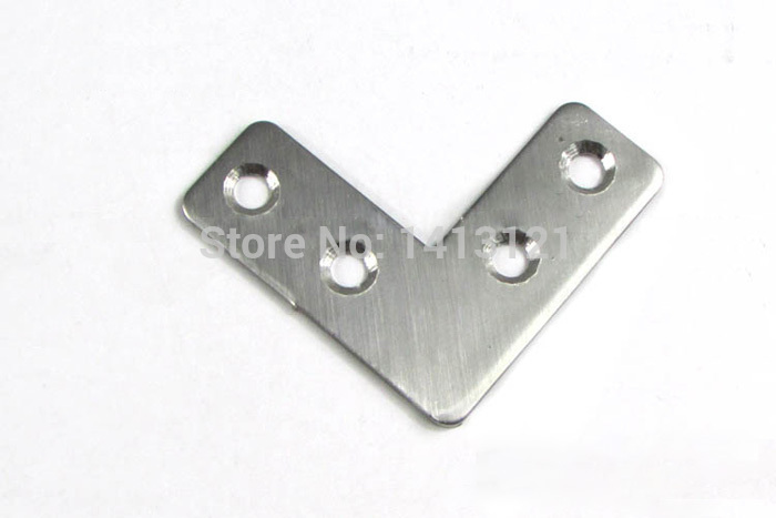 300 pieces L stainless steel corner furniture fitting hardware part Connector mounting bracket Shelf support household fastener
