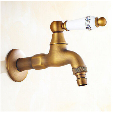 Antique Washing Machine Faucet Bathroom Faucet Handles Decorative Outdoor Faucets Water Tap Wall torneira grifos
