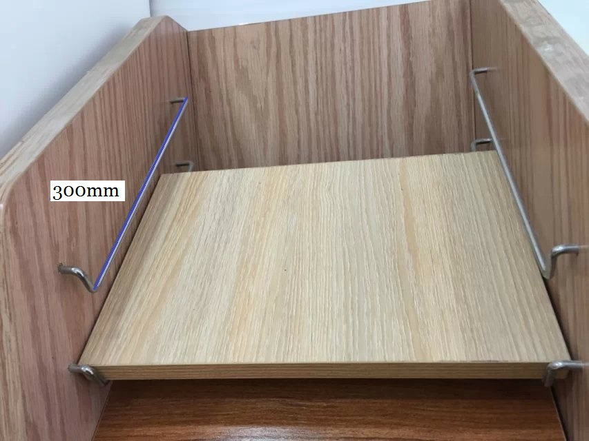 14pairs/lot  300mm (12 inches) kitchen Furniture Cupboard Cabinet  door sample display rack bracket  chrome