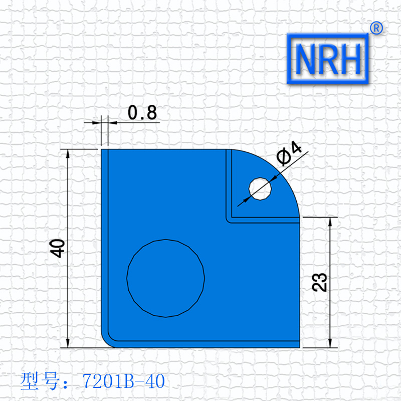 NRH 7201B-40 steel corner Protector high quality amplifier corner Angle bead performance equipment case cornerite chrome finish