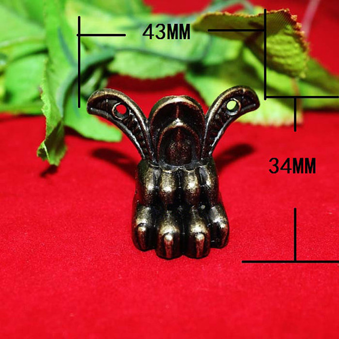 43mmx34mm Antique Metal Box feet Decorative for Box Making Retro Brass Jewelry Gift Wood Box Feet Leg Metal Corner Protector