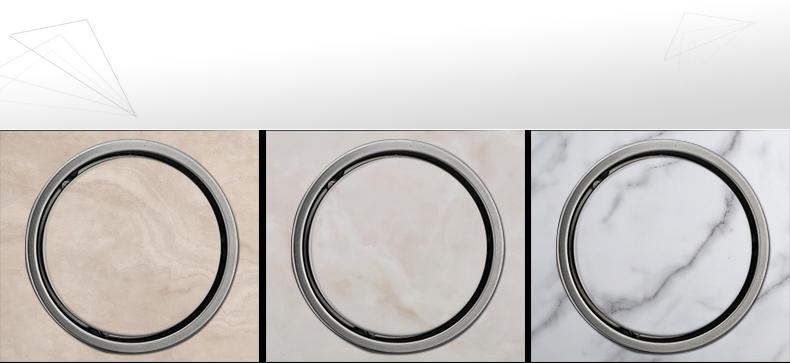 150mm Tile Insert Round Floor Waste Grates Bathroom Shower Drain 304