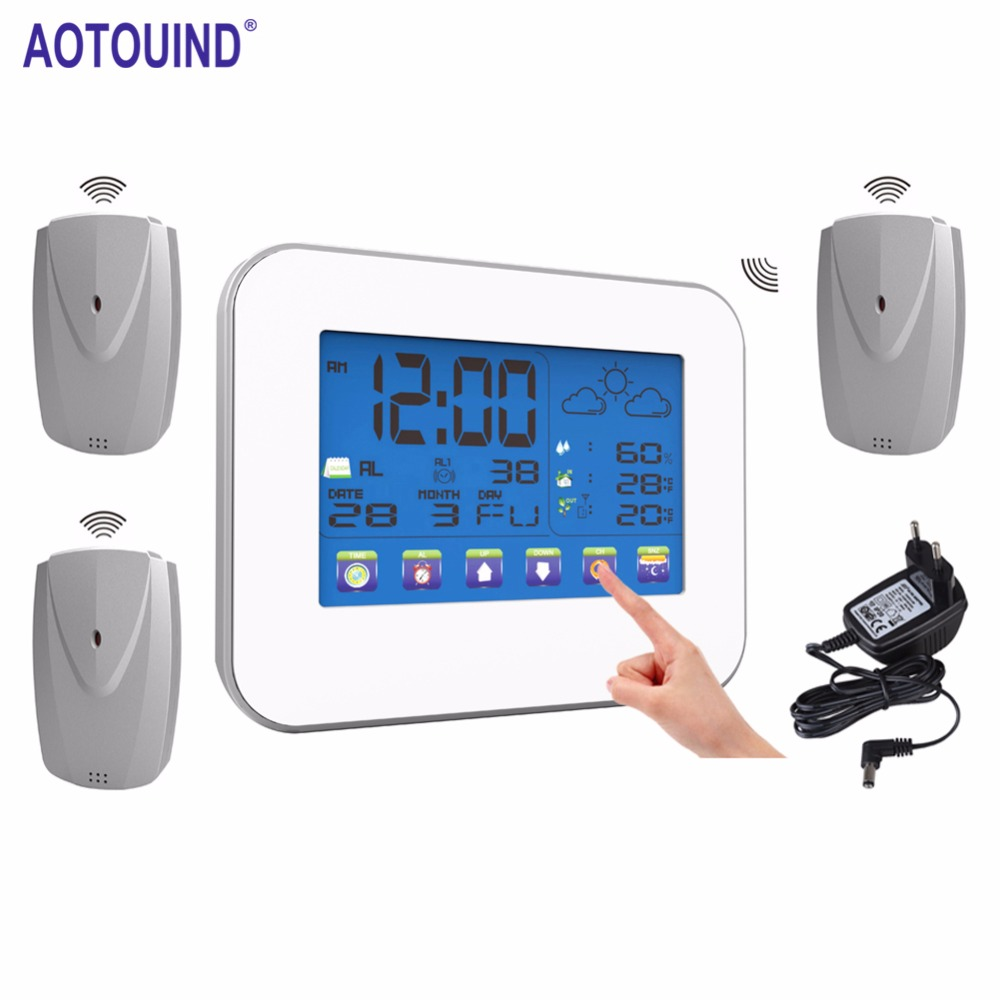 AOTOUIND RF433 Wireless Digital Temperature Remote Sensor Transmitter for Weather Station