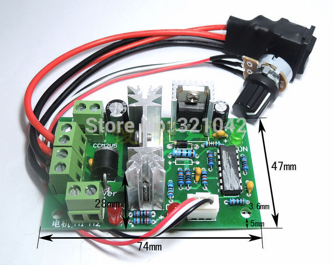 CCM2 Pulse Width PWM DC Motor Speed Regulator Controller Switch 10V-30V 4A