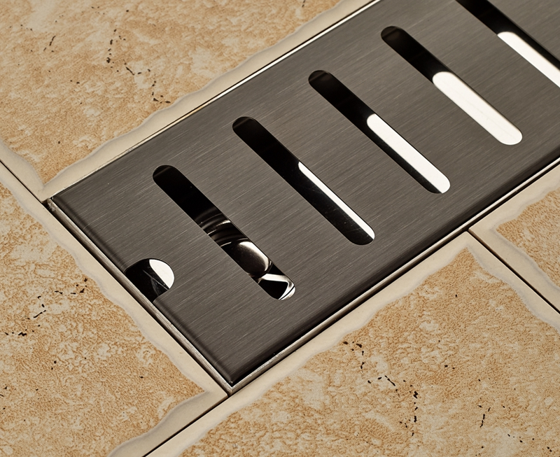 Oil Rubbed Bronze 70cm Length Floor Drain Stainless Steel Shower Grate Waste