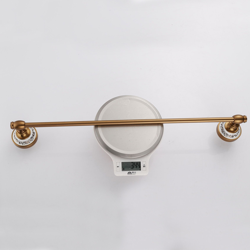 Jooe Antique brass Single Towel Rack Wall Mounted Towel Bar Bathroom Accessories luxury holder Towel rail banheiro toallero