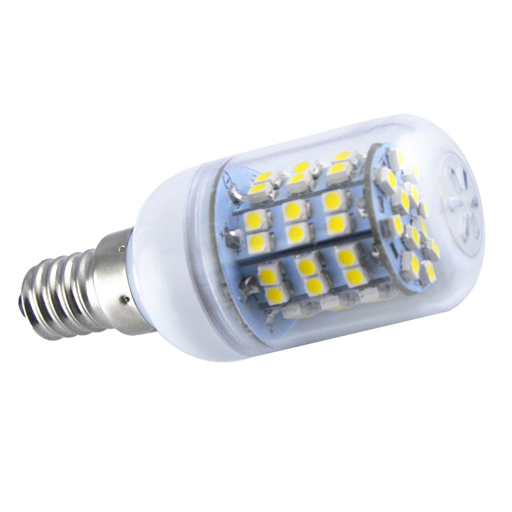 Promotion! Generic Energy Saving E14 60 SMD 3528 LED 450LM Corn Light Lamp Bulb 3000-3500K Equivalent Halogen 50W Warm White