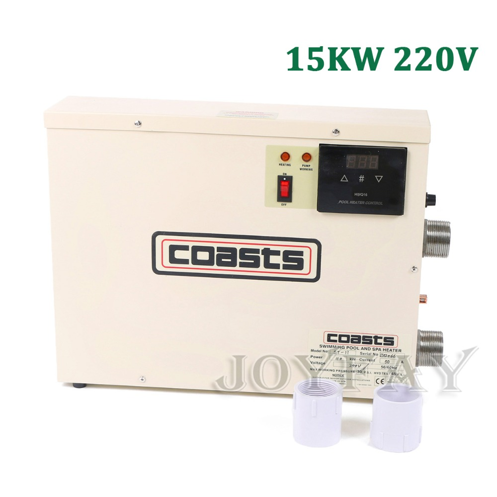 15KW 220V Thermostat Swimming Pool & SPA Home Bath Hot Tub Electric Water Heater