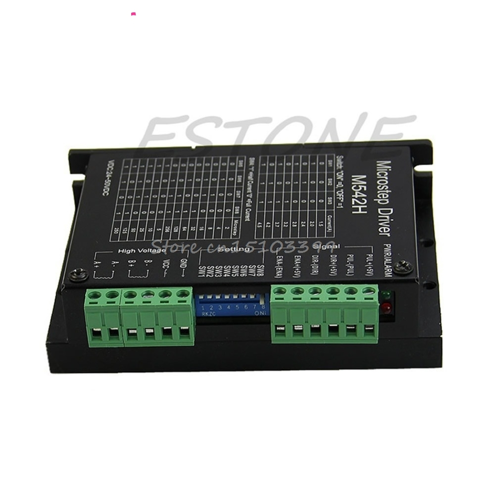 CNC Micro-Stepping Stepper Motor Driver M542/DM542 Bi-polar 2Phase 4.5A Motor Controller Switch #G205M# Best Quality