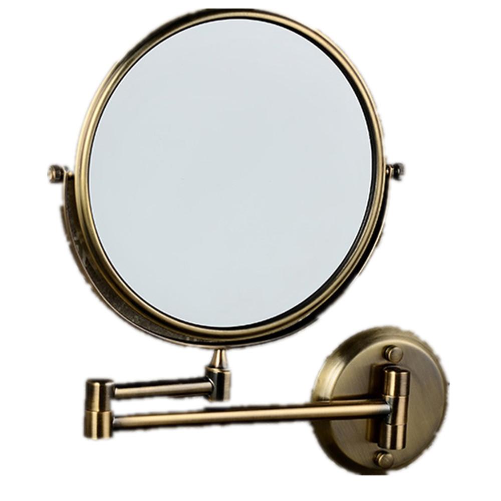 Brass wall mirror