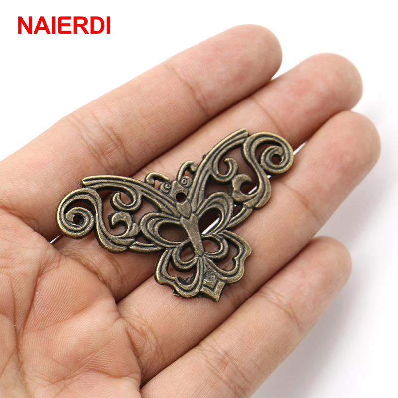 10PCS NAIERDI Bronze Jewelry Box Book Scrapbook Album Corner Decorative Protector Antique Notebook Albums Menus Frame Accessorie
