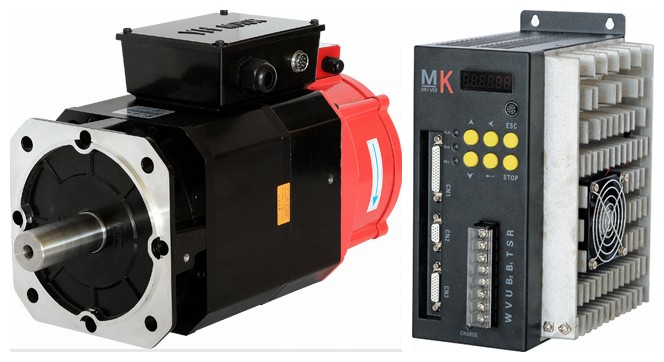 130mm AC  Servo motor 3.7KW + servo driver 5.5KW for ATC spindle drive  3.7kw 3000rpm ~ 6000rpm  asynchronous servo motor