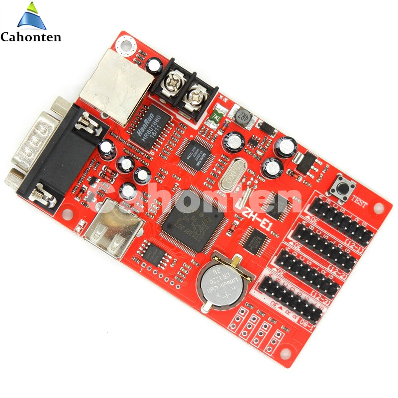 ZH-E1 network/ U disk/ RS232 port led controller card 1024*48 pixels for P10,f3.75,p4.75,p13.33,p16 display module control card