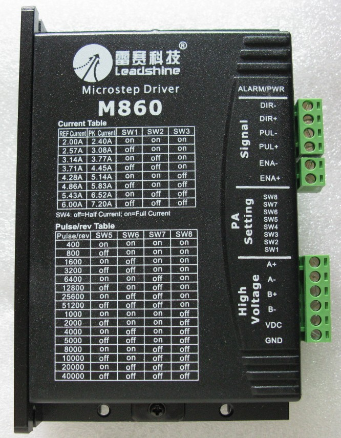 2 phase Leadshine M860 stepper motor driver CNC 24-80VDC output 2.0A-6A for nema 34 stepper motor