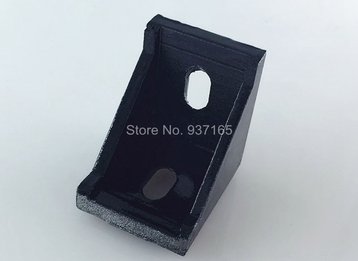 20pcs 2028 2020 Corner Angle L Brackets Connector Fasten Fitting Long Hole for Aluminum Profile 2020 20x20