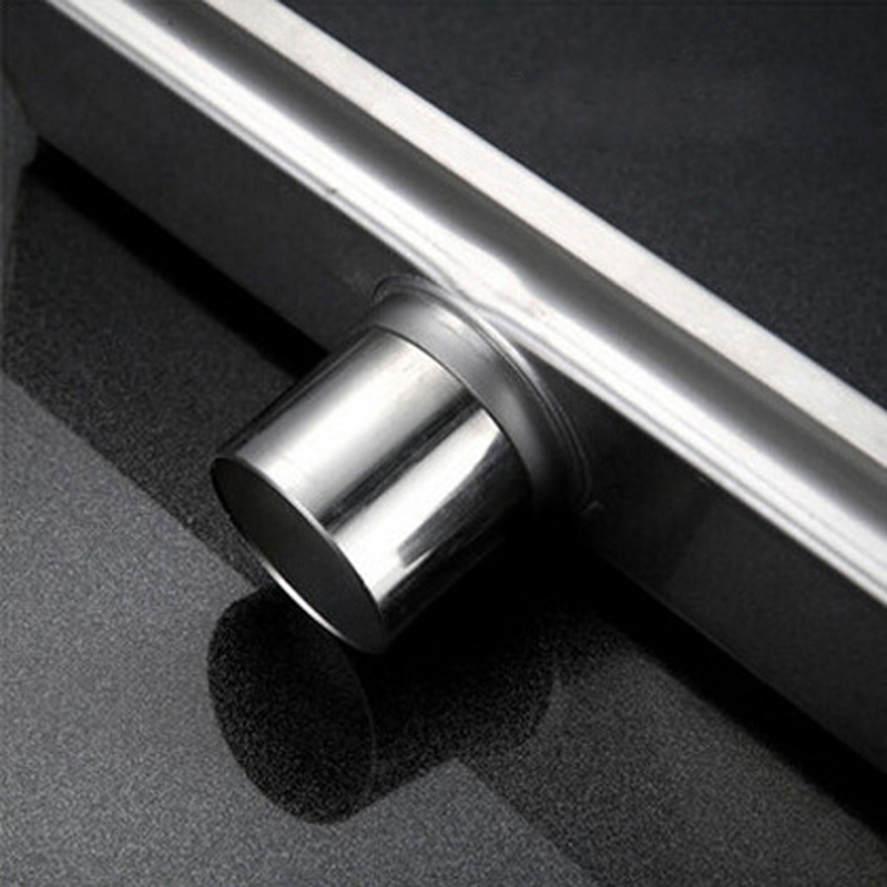 Floor Drain Stainless Steel 304 Linear Bathroom Kitchen Shower Drain, Vertical Long Drain Floor Drains Brushed Surface