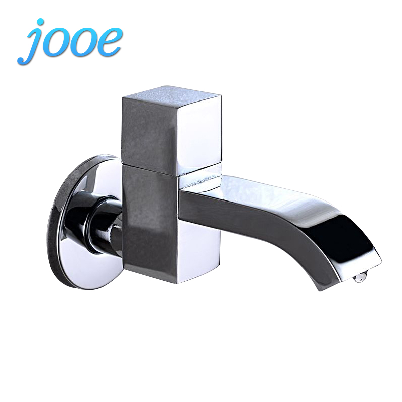 jooe single cold bathroom faucet Wall Mounted MOP pool faucet Single Holder waterfall water tap brass bibcock torneira