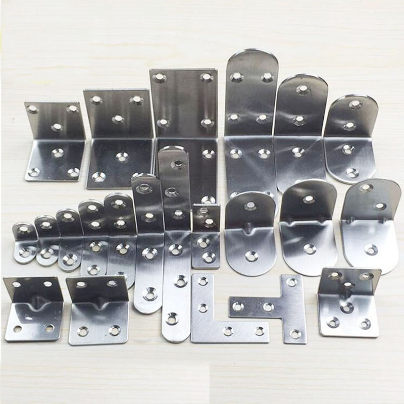 Stainless Steel Angle Angle Cabinet Hardware Connection Angle Iron Partition Fixed Support Laminates Care 90 Degrees GH50X50X50