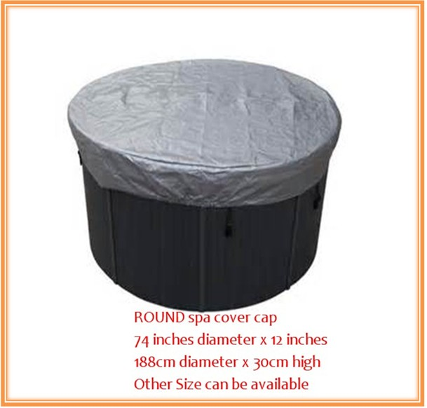 ROUND spa cover cap 74 inches diameter x 12 inches 188cm x 30cm high Other Size can be available