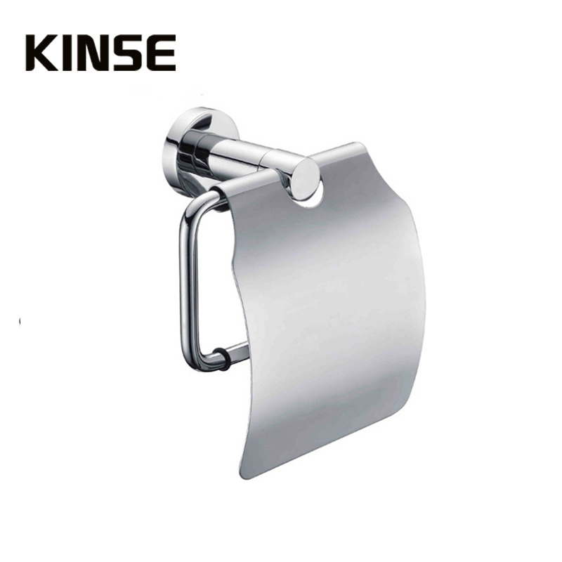 Brass Toilet Paper Holders Paper Holders Roll Paper Box Waterproof Chrome Finish Bathroom Accessories
