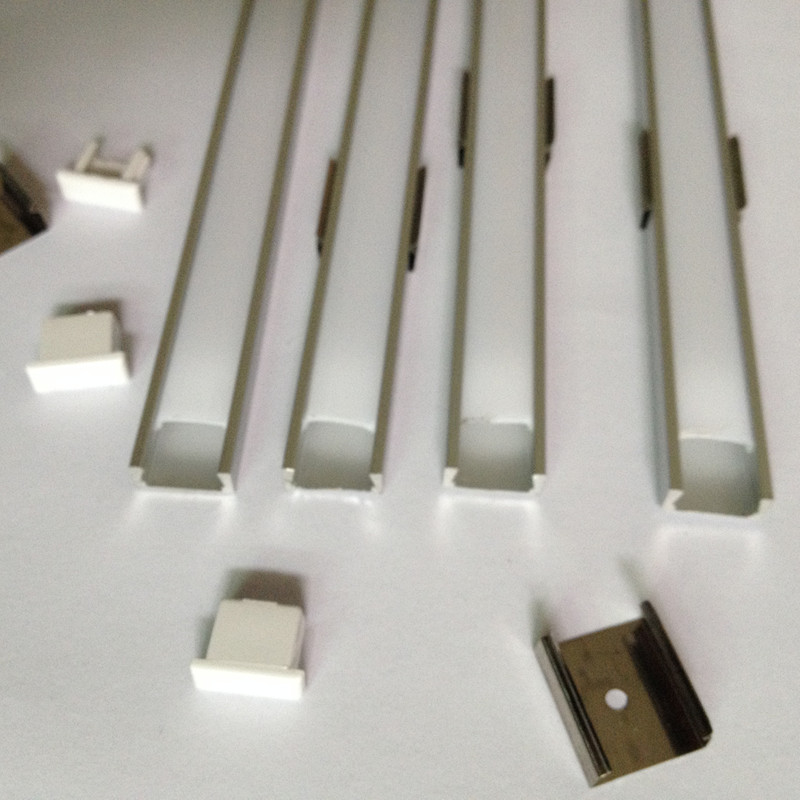 Aluminum profile 1M for led strip,milky/transparent cover profit for 12mm 5050 strip with fittings LED bar light CC-1607