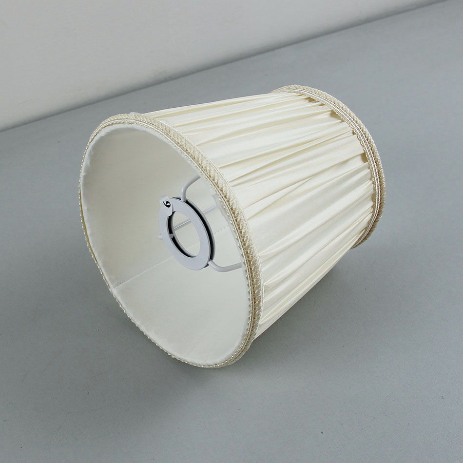 DIA 15.5cm/6.1inch High Quality off white color Fabric Lampshades for lamp, E14